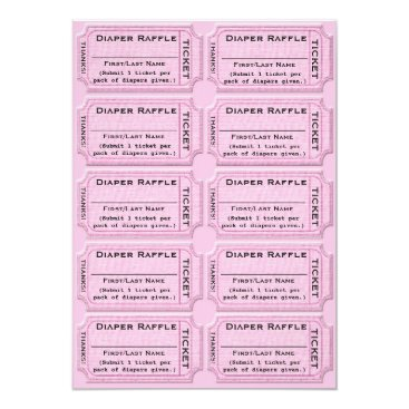 Toddler & Baby themed Diaper Raffle Tickets Cute Baby Shower Card