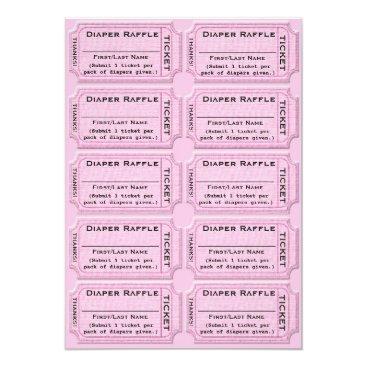 GlitterInvitations Diaper Raffle Tickets Cute Baby Shower Card