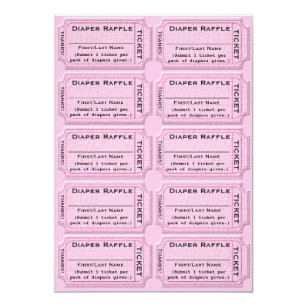 Save 60 on cute baby shower invitations limited time only zazzle diaper raffle tickets cute baby shower invitation filmwisefo