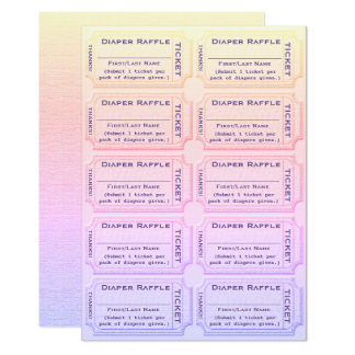 diaper raffle tickets invitations & announcements | zazzle, Baby shower invitations