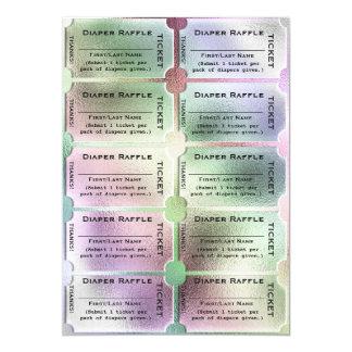 Diaper Raffle Tickets Cute Rainbow Baby Shower Card