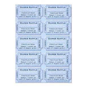 diaper raffle tickets zazzle