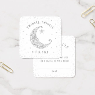 Diaper Raffle Twinkle Little Star Baby Shower Square Business Card