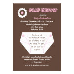 Diaper Second Baby Girl Shower Invitation Custom Announcement