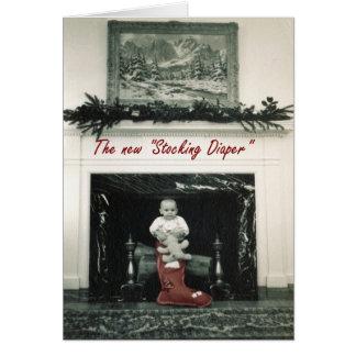 Diaper Stocking Card