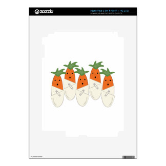 Diapered Carrots iPad 3 Decal