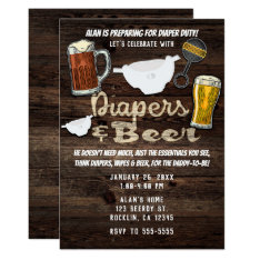 Diapers & Beer Party Man Men Daddy To Be Shower Card at Zazzle