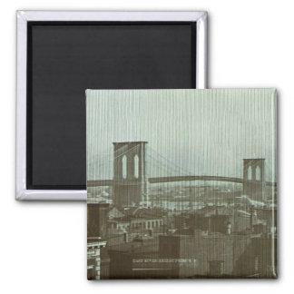 Diapositiva de cristal del puente de Brooklyn del  Imán De Frigorifico