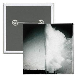 Diapositiva de cristal del vintage del géiser de Y Pins