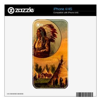 Diapositiva de linterna mágica americana del calcomanías para el iPhone 4