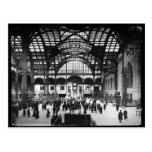 Diapositiva de linterna mágica de la estación NYC  Postales