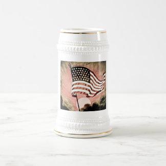 Diapositiva de linterna mágica del vintage de las jarra de cerveza