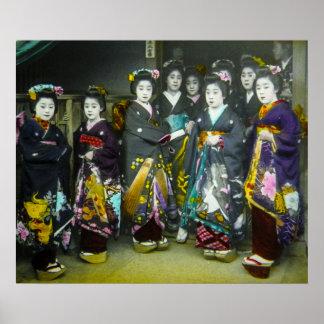 Diapositiva de linterna mágica hermosa de Japón Póster