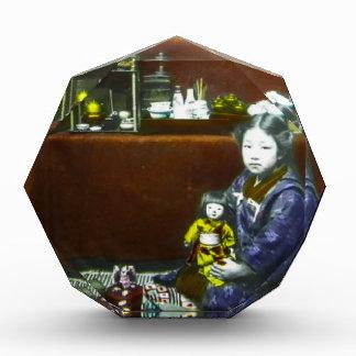 Diapositiva de linterna mágica japonesa del