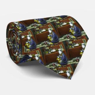 Diapositiva de linterna mágica japonesa del corbatas
