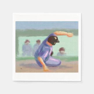 Diapositiva del béisbol servilletas de papel