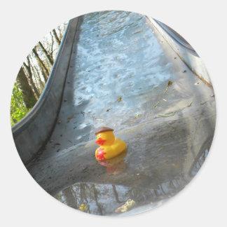 Diapositiva Ducky Pegatina Redonda