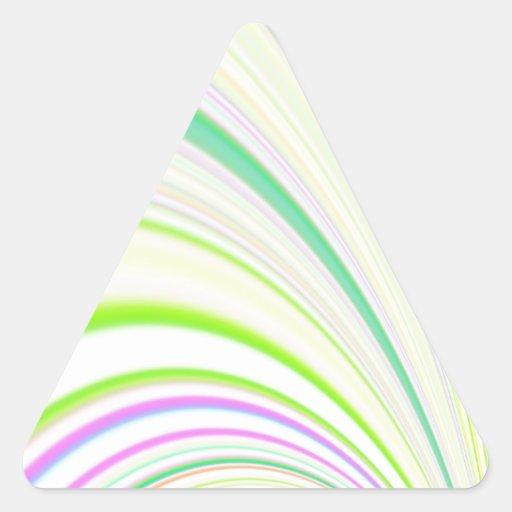 Diapositiva reconstruida pegatina triangular