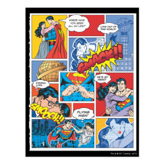 Diapositivas cómicas del amor - color postales