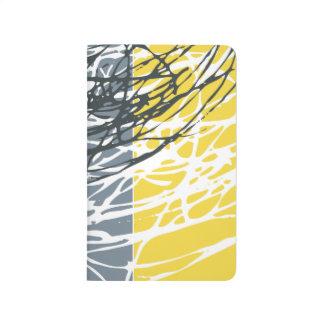 Diario abstracto de la jerarquía en amarillo gris