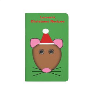 Diario adaptable de la receta del ratón de las cuadernos