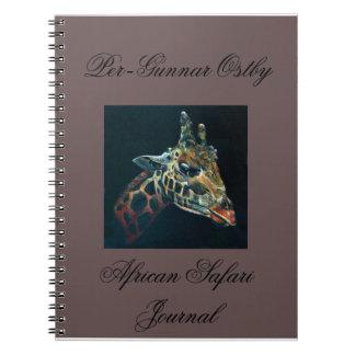 Diario africano del safari libro de apuntes con espiral