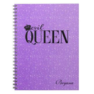Diario atractivo del cuaderno del brillo púrpura