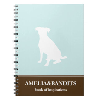 Diario azul de la inspiración del perro de la silu libreta espiral
