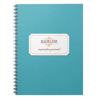 Diario azul de la inspiración del trullo anaranjad cuadernos