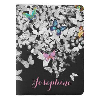 diario bonito colorido de las mariposas funda para libreta y libreta extra grande moleskin