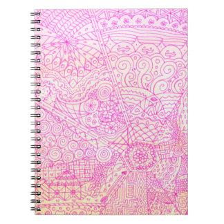 Diario caprichoso rosado libreta