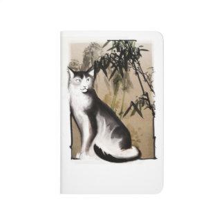 Diario chino del bolsillo del gato cuaderno
