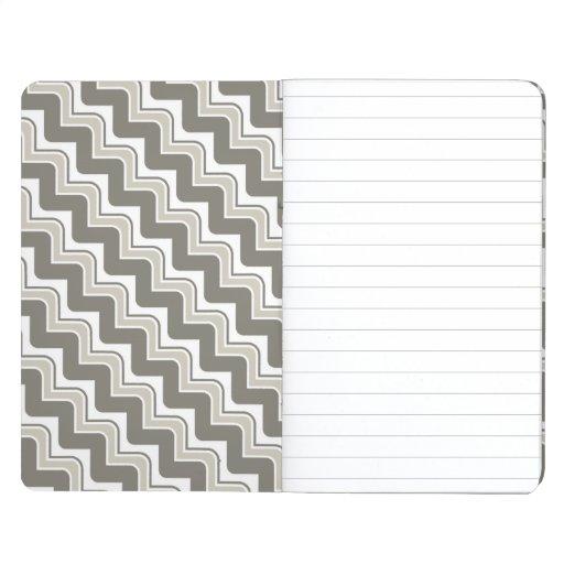 Diario clásico del bolsillo de Chevron de la ondul Cuaderno