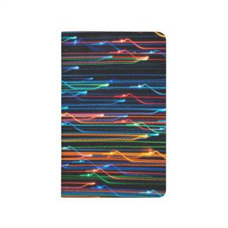 diario coloreado de las luces cuaderno