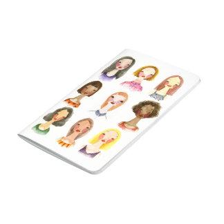 Diario colorido de los chicas cuaderno grapado
