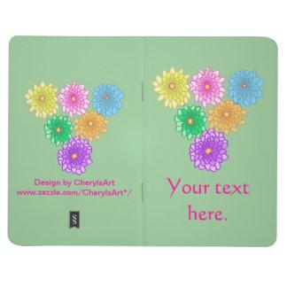 Diario colorido de los crisantemos de las flores d cuaderno