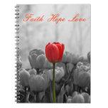 Diario con el tulipán rojo libretas