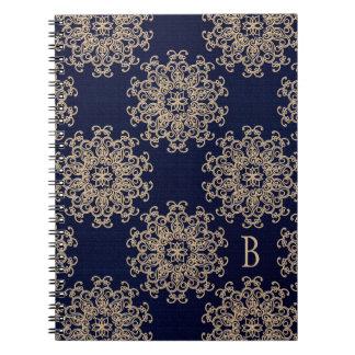 Diario con monograma del cuaderno de los azules ma