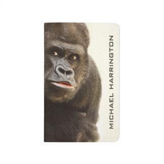 Diario conocido de encargo del bolsillo del gorila cuadernos grapados