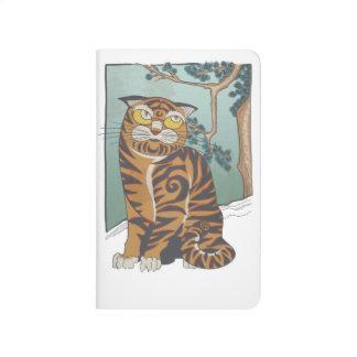 Diario coreano del bolsillo del gato cuaderno grapado