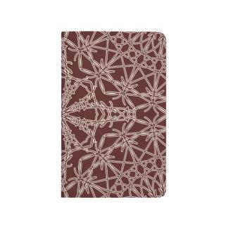 Diario Crocheted del bolsillo del cordón - café Br Cuaderno