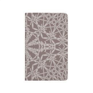 Diario Crocheted del bolsillo del cordón - gris de Cuaderno