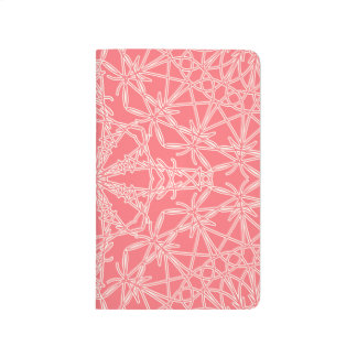 Diario Crocheted del bolsillo del cordón - rosa de Cuadernos