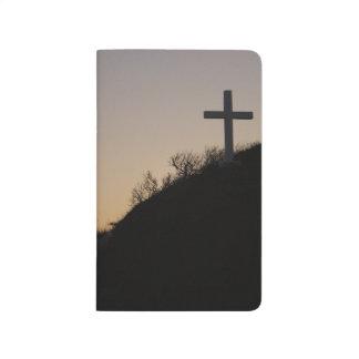 Diario cruzado del bolsillo de la playa cuadernos grapados