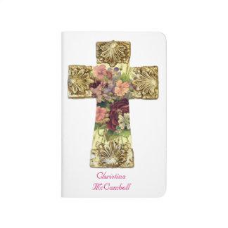 Diario cruzado floral elegante cuaderno