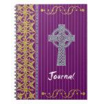 Diario cruzado púrpura libro de apuntes
