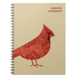 Diario/cuaderno cardinales modernos personalizados