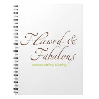 Diario dañado y fabuloso cuadernos