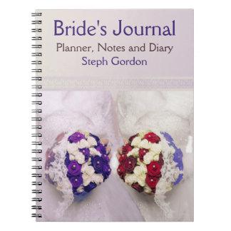 Diario de encargo de las novias del ramo para una spiral notebook