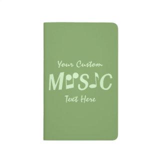 Diario de encargo del bolsillo de la MÚSICA Cuaderno Grapado